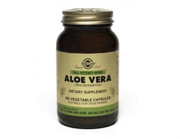 Solgar Алое Вера, укрепляет иммунитет и заживляет язвы желудочно-кишечного тракта 100 таблеток