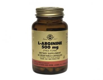 Solgar  L-аргинин, аминокислота для расширению сосудов и формированию мышечной ткани 500 мг 50 таблеток