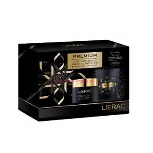 Lierac Новогодний набор премиум: крем бархатистый облегченная текстура 50 мл + свеча ароматическая