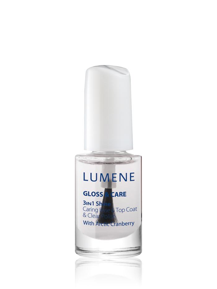 Lumene Средство 3 в 1: ухаживающая основа + закрепляющее покрытие + сияющий блеск