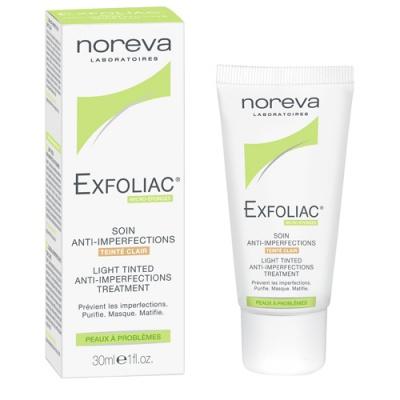 заказать Noreva Эксфолиак тональный матирующий крем с AHA светлый тон, 30 мл