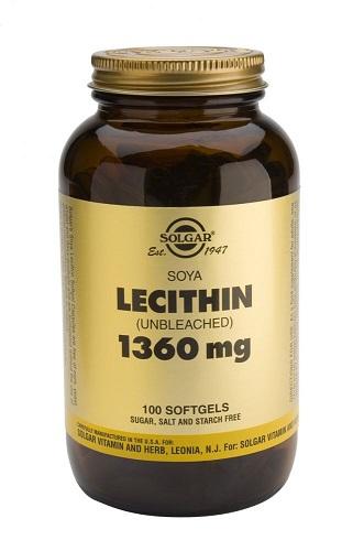 Solgar Натуральный соевый лецитин 100 капсул