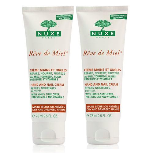 Nuxe Набор: рэв де мьель крем для рук и ногтей (2 шт)